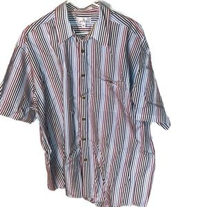 ♦Mens Xl vintage Enro shirt sleeve button down top